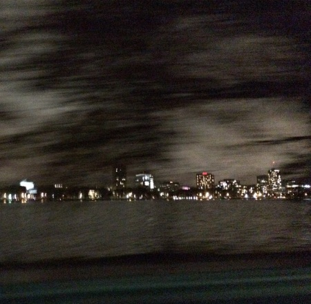 boston skyline from limo window (courtesy of LDZ)